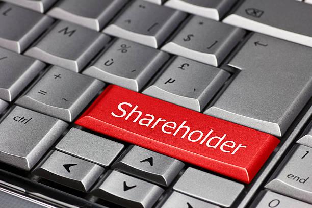 Tasto di Computer-azionista - foto stock