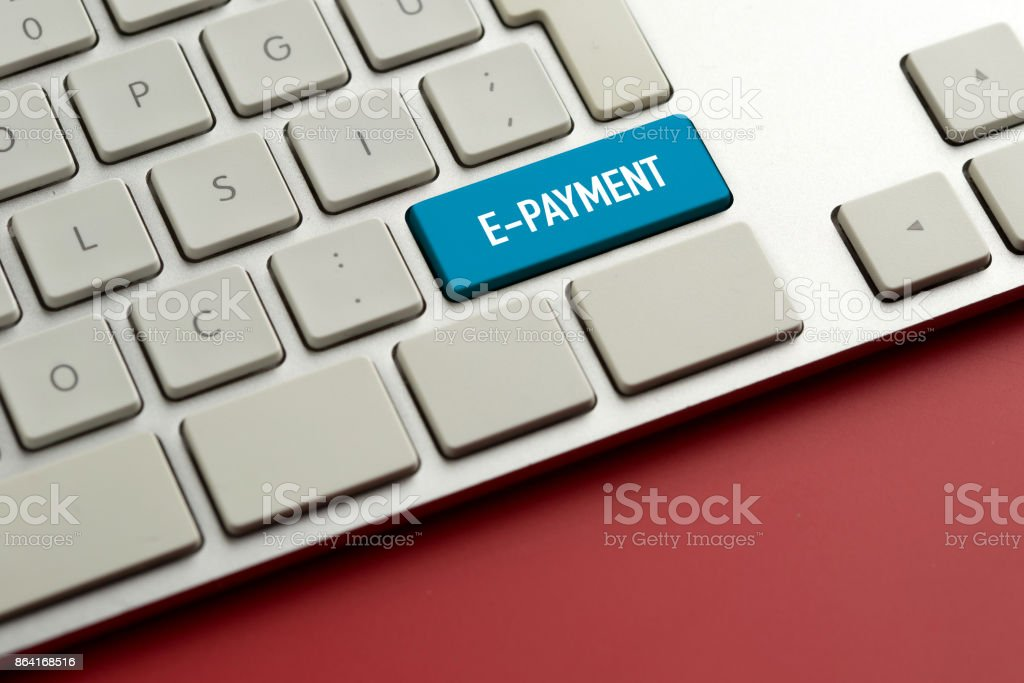 Computer key showing the word E-PAYMENT royalty-free stock photo