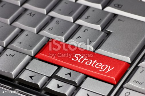846409842 istock photo Computer key - Strategy 471960917