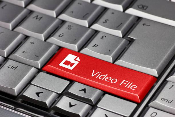 llave de computadora - archivo de vídeo - mp4 fotografías e imágenes de stock