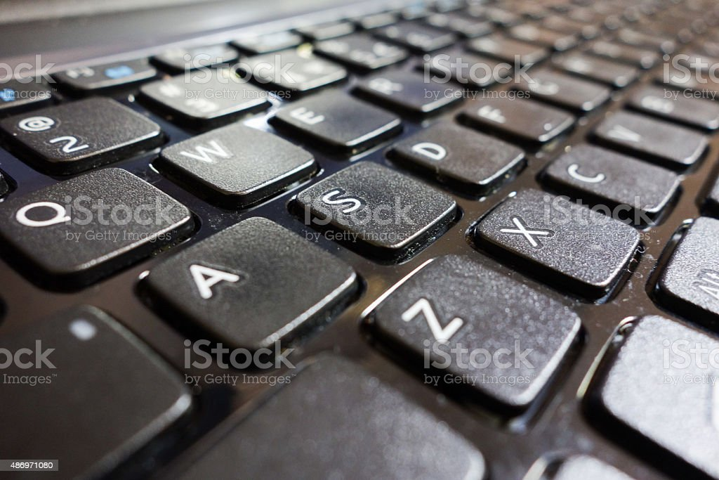 Computer keyboard alphabets stock photo