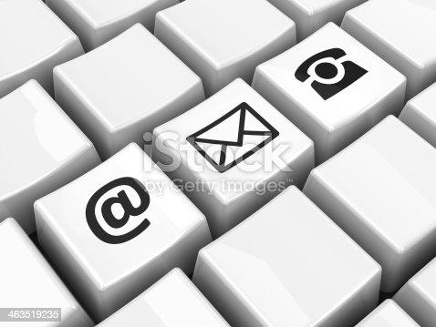 istock Computer keyboard black contact 463519235