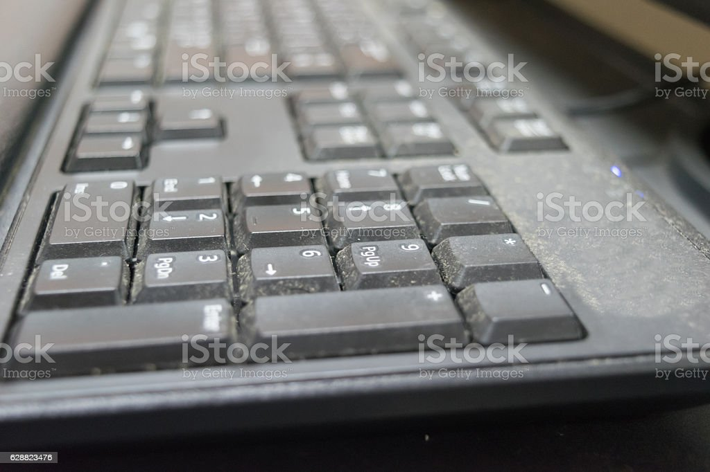 Computer Keyboard Black stock photo