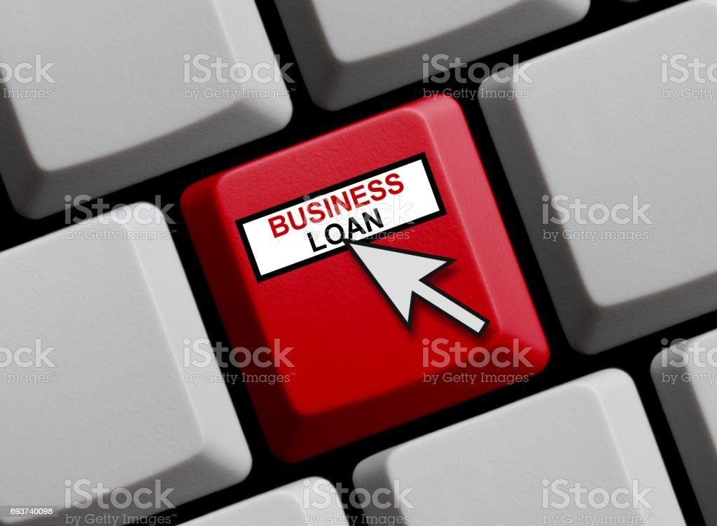 Computer Keyboard: Business Loan stock photo