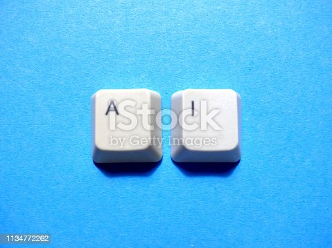 istock Computer keyboard buttons with AI (artificial intelligence) abbreviation. 1134772262