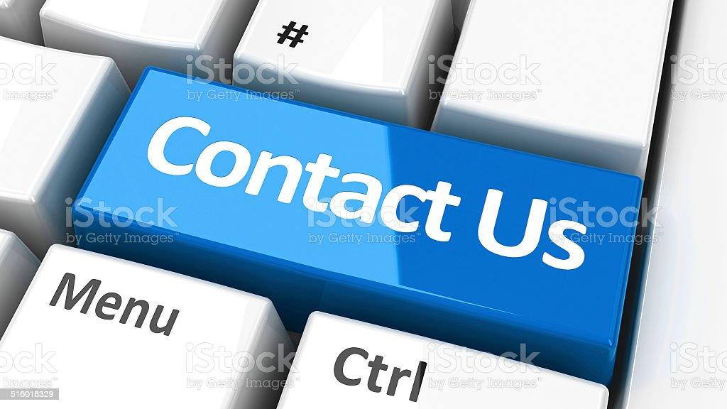 Computer keyboard contact us stock photo