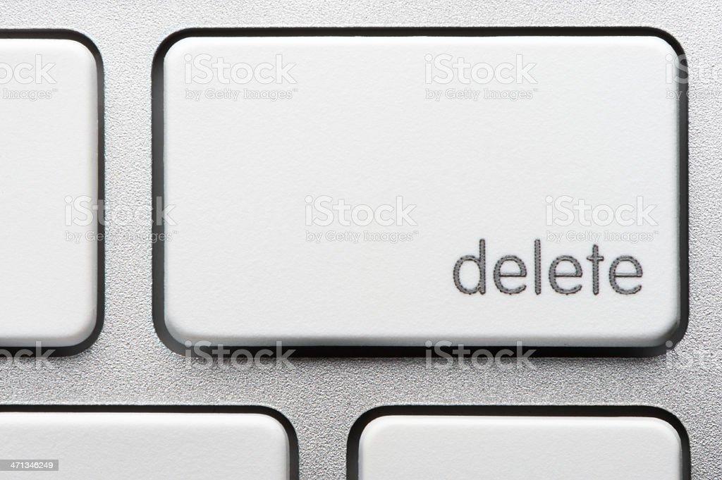 Computer Keyboard Delete Key stock photo