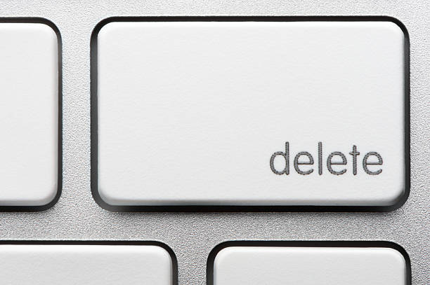 computer keyboard delete key - delete key stock photos and pictures