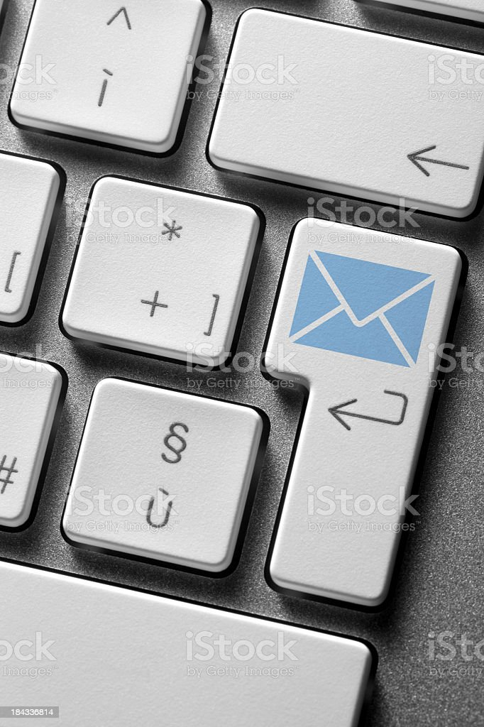 Computer keyboard. Email button. royalty-free stock photo