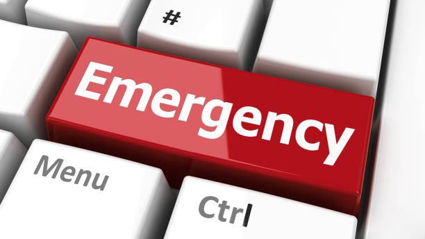 teclado de emergencia - problemas fotografías e imágenes de stock