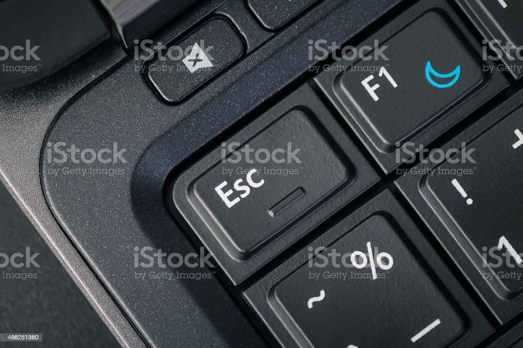 Computer keyboard - ESC and help button, close up stock photo