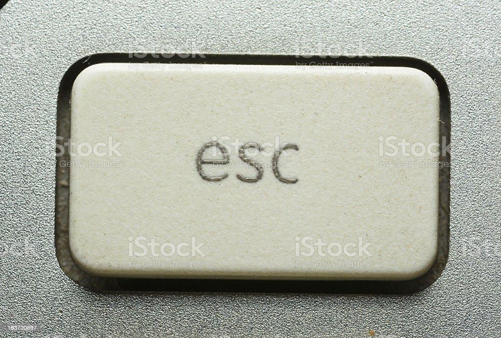 Computer keyboard - ESC, close-up stock photo