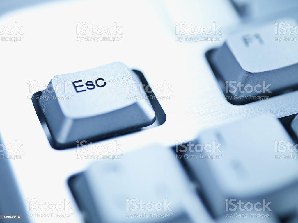 Computer keyboard escape key stock photo