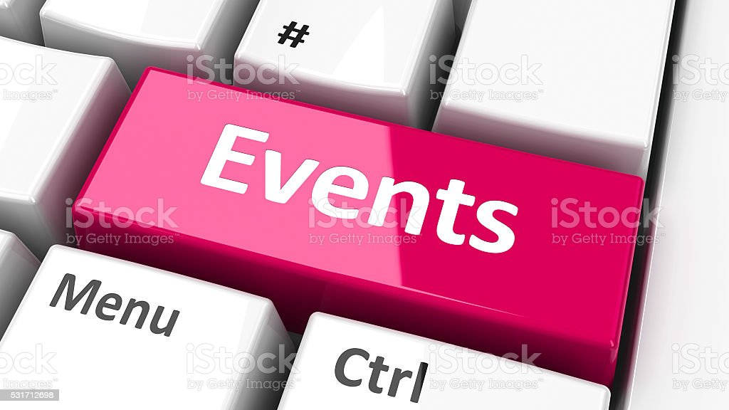 Computer keyboard events stock photo