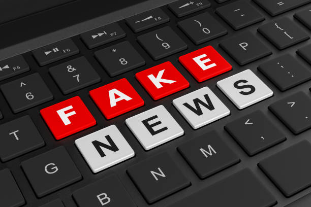 computer keyboard fake news concept - imitation stock pictures, royalty-free photos & images