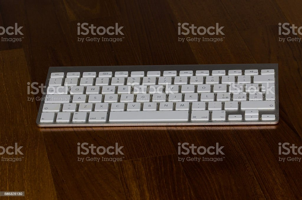 Computer Keyboard For Office Special Keys Stock Photo