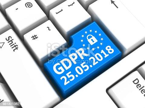 istock Computer keyboard GDPR #2 931321382