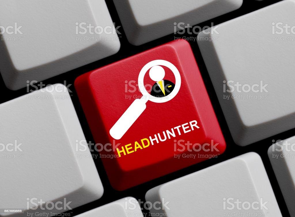 Computer Keyboard: Headhunter stock photo