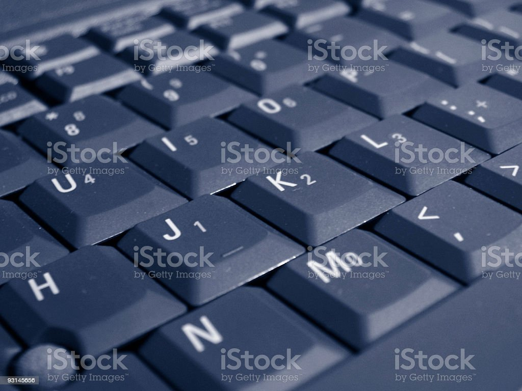 Computer keyboard in black for a laptop stock photo