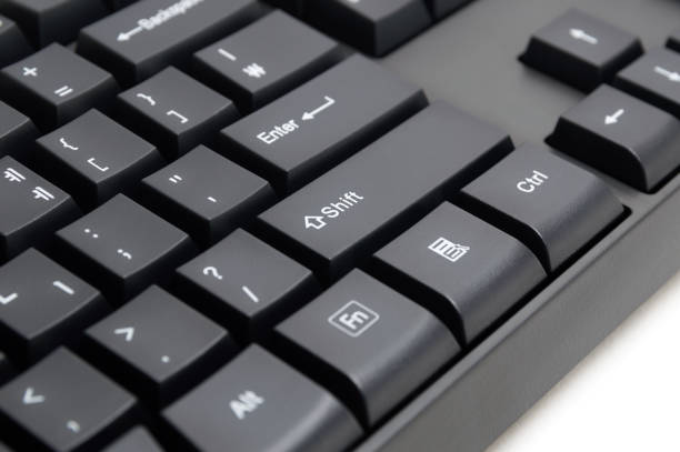 Computer keyboard isolated on white background stock photo