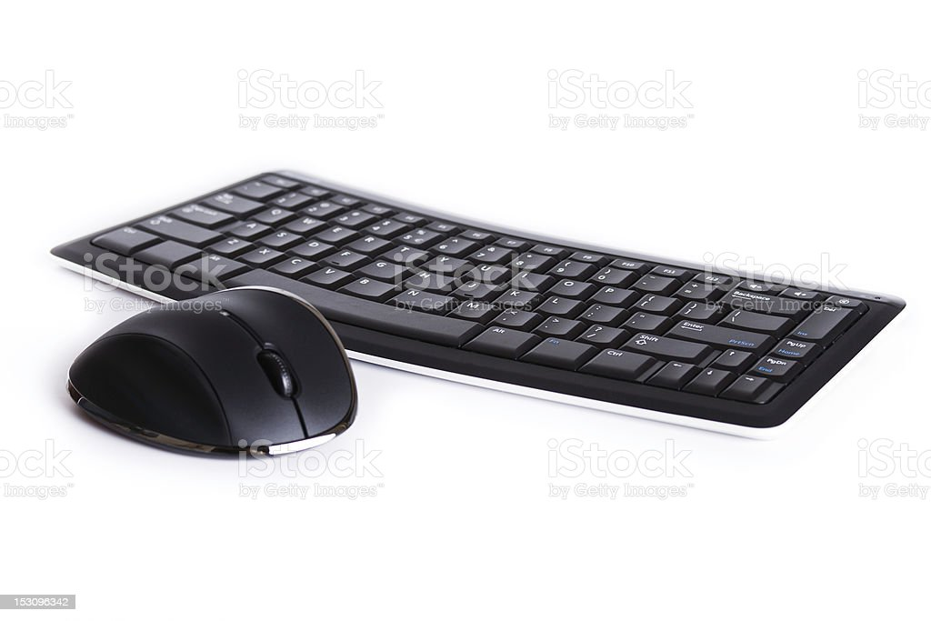 computer keyboard & mouse royalty-free stock photo