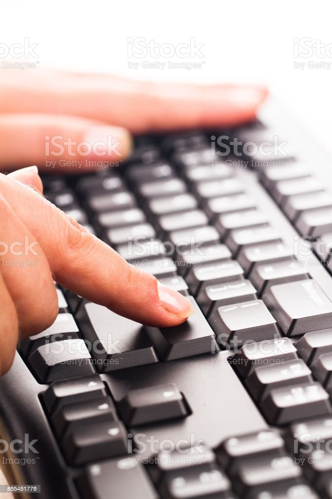 Computer keyboard. stock photo