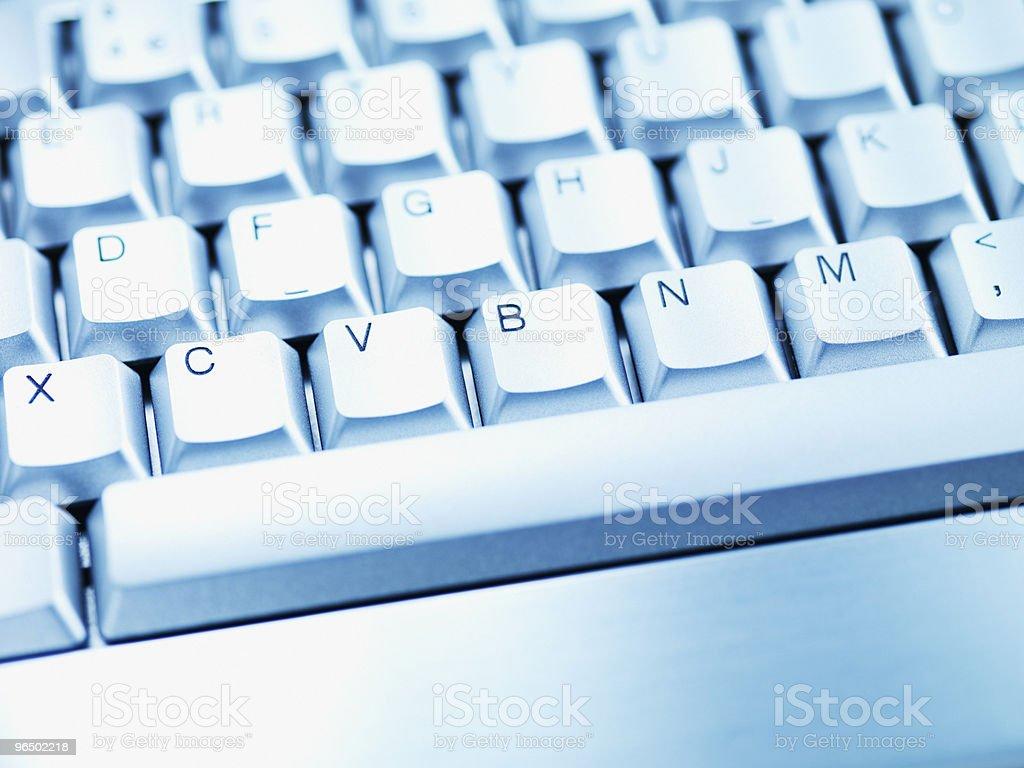 Computer keyboard space bar royalty-free stock photo