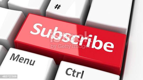 istock Computer keyboard subscribe 483702558