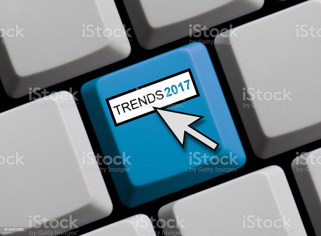 Computer Keyboard: Trends 2017 stock photo