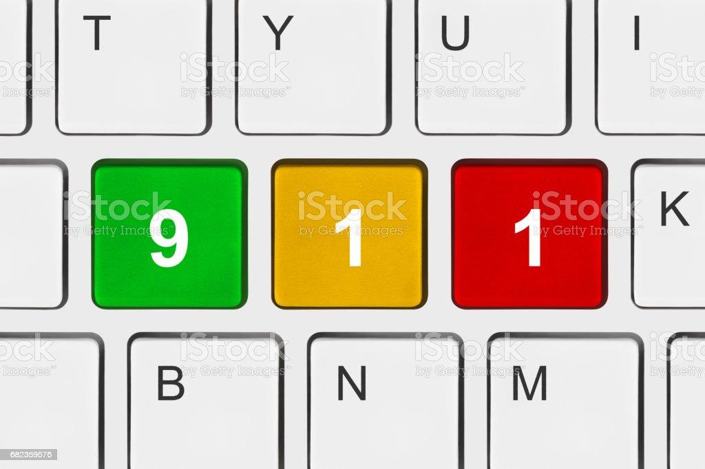 Toetsenbord van de computer met 911 sleutel royalty free stockfoto