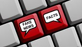 Computer Keyboard with balloons Fake or News Facts