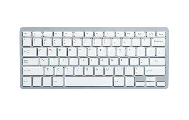 computer-tastatur mit clipping path - computertaste stock-fotos und bilder