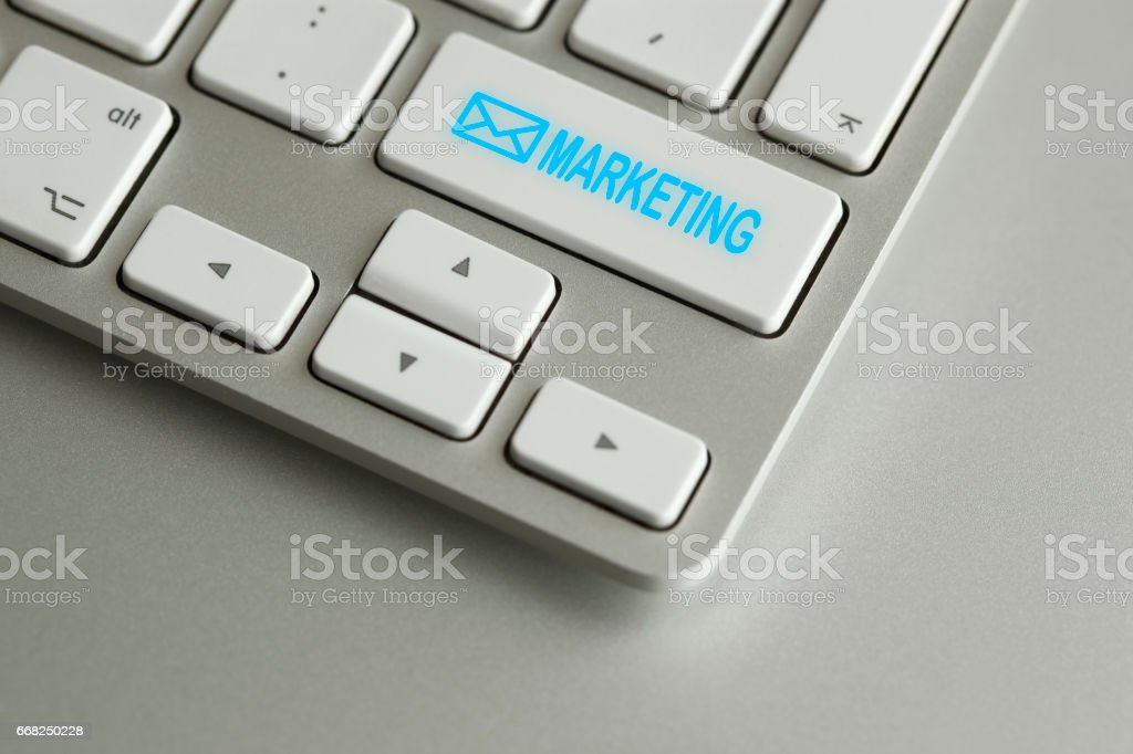 Computer keyboard with email icon foto stock royalty-free