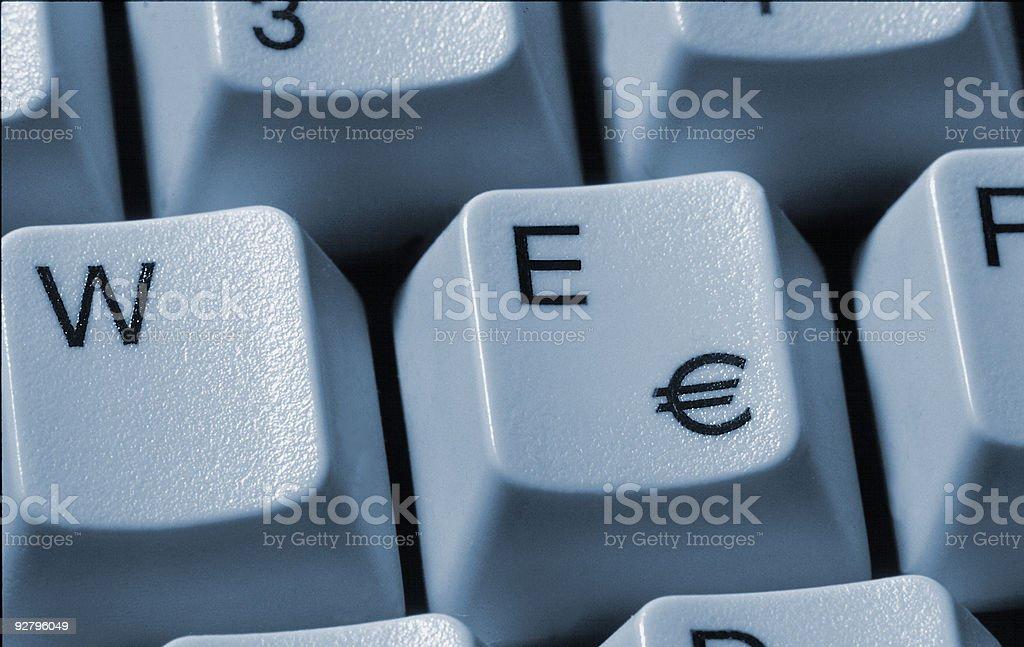 Computer Keyboard With Euro Symbol Stock Photo Istock