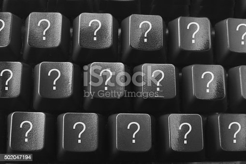 istock Computer Keyboard with Questions Marks 502047194