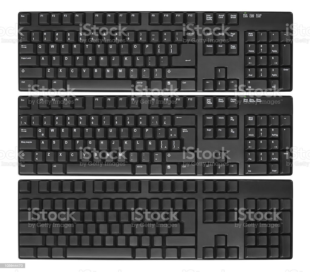 Computer keyboards stock photo