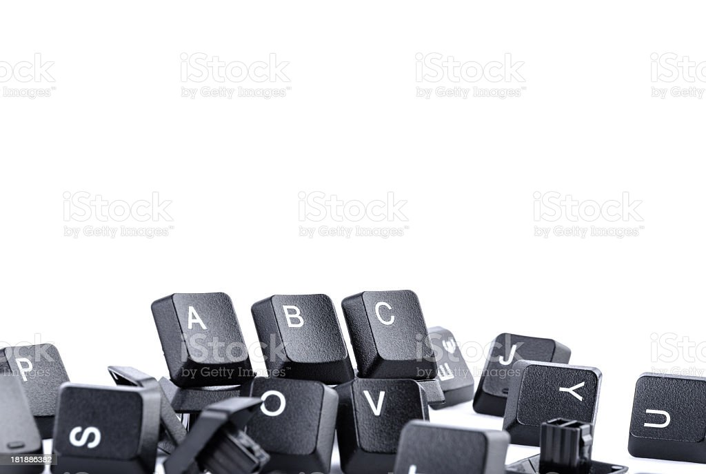 Computer keys forming ABC royalty-free stock photo
