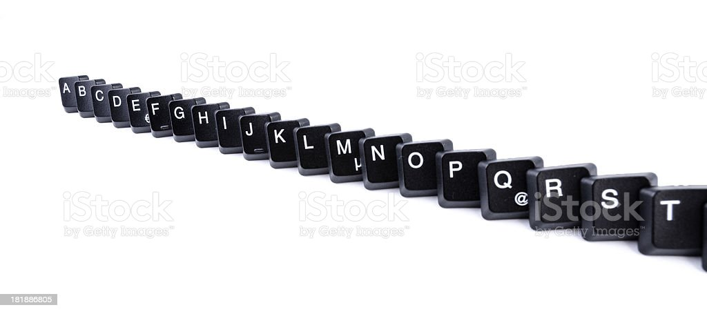 Computer keys forming the alphabet royalty-free stock photo