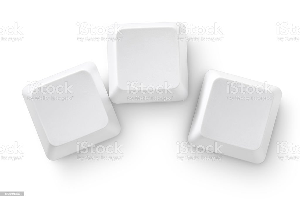 Computer keys stock photo
