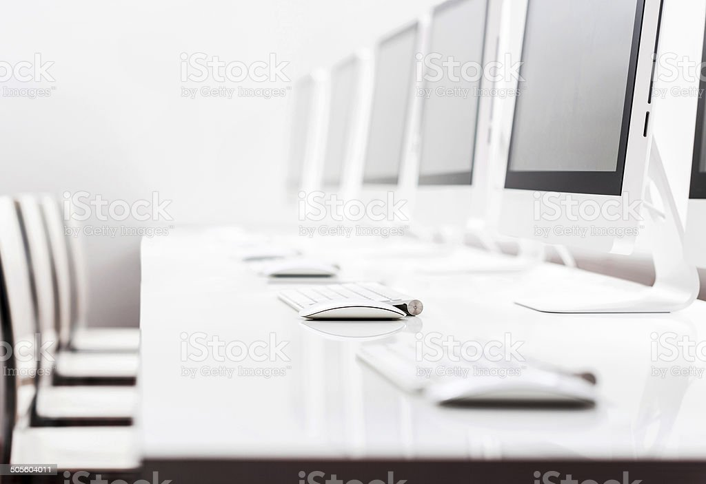 Computer lab. stock photo