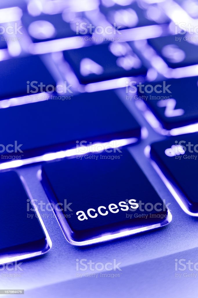 Computer laptop keypad 'access' button. royalty-free stock photo