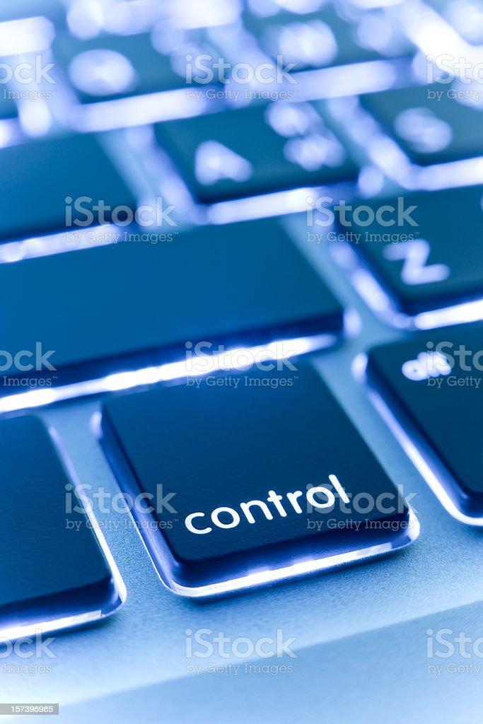 Computer laptop keypad 'control' button. royalty-free stock photo