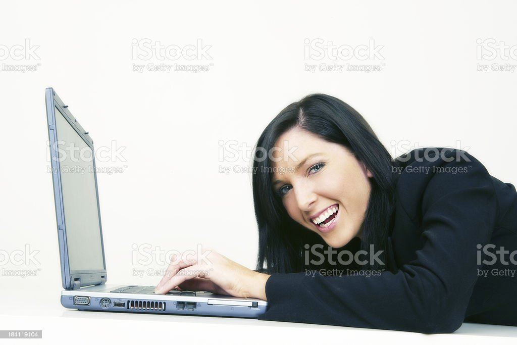 Computer laughter royalty-free stock photo