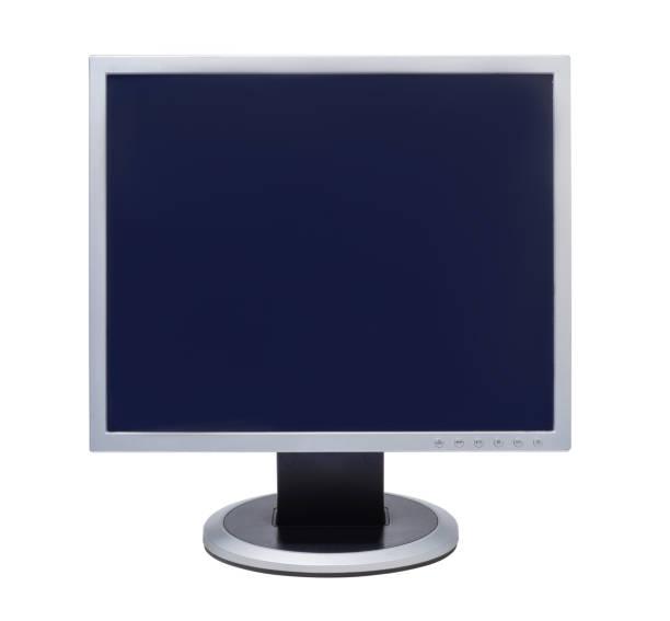 computer-lcd-monitor isoliert auf weiß - desktop hintergrund hd stock-fotos und bilder