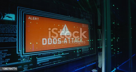 istock Computer login screen in a modern data center 1060784774