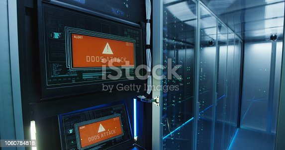 istock Computer login screen in a modern data center 1060784818
