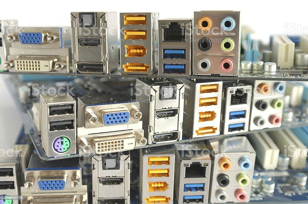Computer main boards royalty-free stock photo