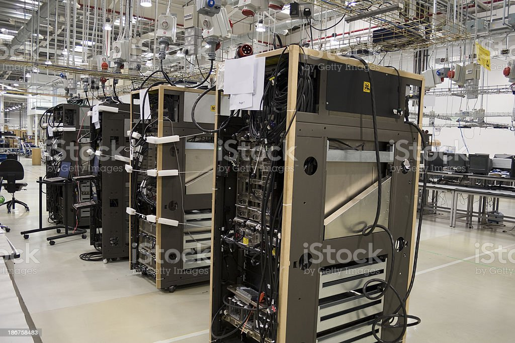 Computer manufacturing stock photo