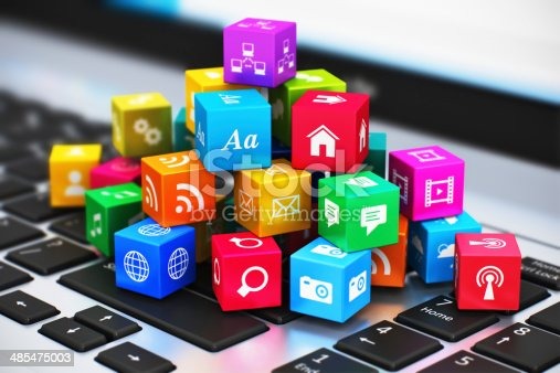 istock Computer media and internet communication concept 485475003