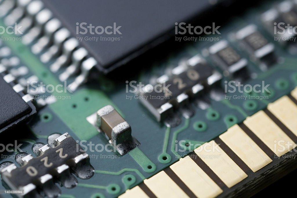 Computer Memory Chip royalty-free stock photo